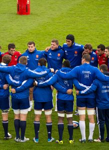 Frances rugby union national team players are briefed