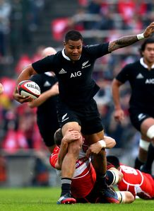 Frank Halai of the All Blacks Japan v New Zealand