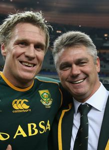 Jean de Villiers with Heyneke Meyer