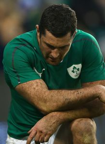Rob Kearney of Ireland shows his dejection