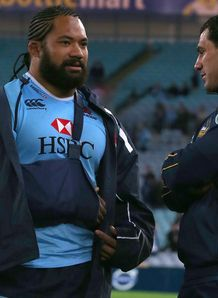Tatafu Polata Nau and George Smith Waratahs v Brumbies 2013