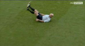 Referee takes a tumble