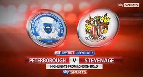 Peterborough 0-1 Stevenage