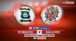 Plymouth 2-1 Dag & Red