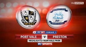 Port Vale 0-2 Preston