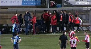 Exeter manager wiped out by own player