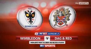 Wimbledon 1-1 Dag and Red