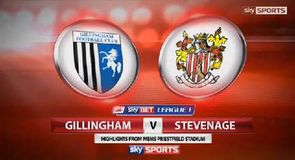 Gillingham 3-2 Stevenage