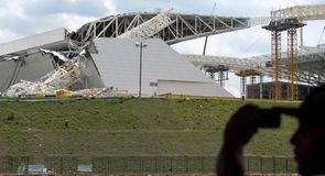 World Cup stadium collapses