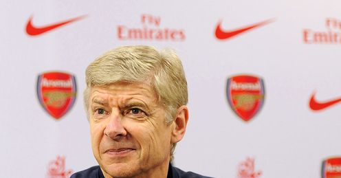Wenger: looking to keep Arsenal at the top of the table