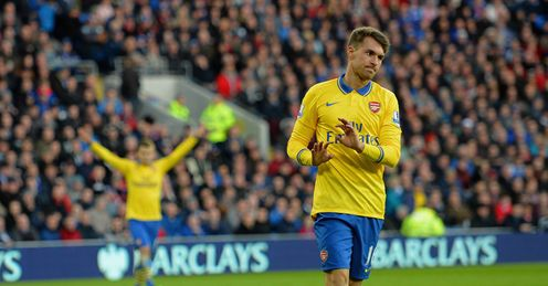 Aaron Ramsey: it was a heart-warming moment to see such respect from his former club, says Chris Kamara.