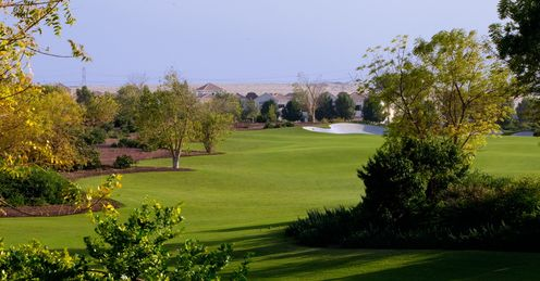 One of Jumeirah's lush fairways