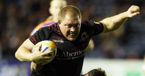 Edinburgh s WP Nel during the RaboDirect PRO12 match at Murrayfield