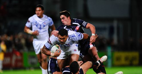 Joseph Leilua France v Samoa rugby league world cup