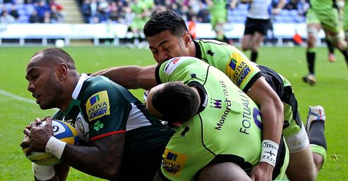 Sailosi Tagicakibau scores try for london irish v northampton