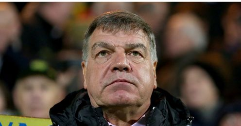 Allardyce: lacks firepower going forward