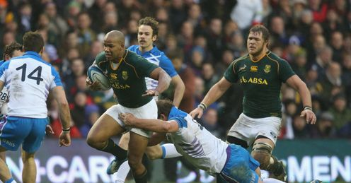 AFRICA NATIONAL RUGBY UNION TEAM JP Pietersen  South Africa Scotland