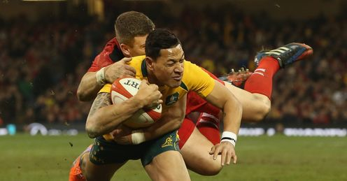 ISRAEL FOLAU AUSTRALIA SCOTT WILLIAMS WALES