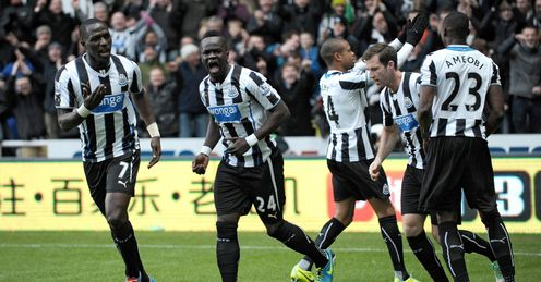 Newcastle: climbed to fifth after West Brom win
