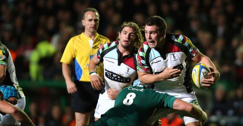 Nick Easter Harlequins Aviva Premiership Welford Road