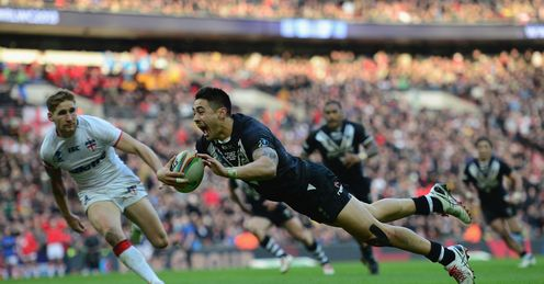 Shaun Johnson New Zealand Rugby League World Cup Wembley