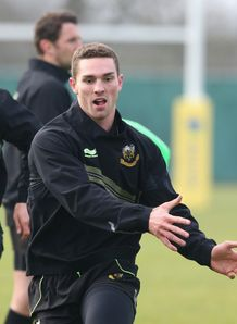 George North Northampton training 2013