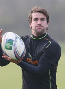 Lee Dickson at Northampton Saints training