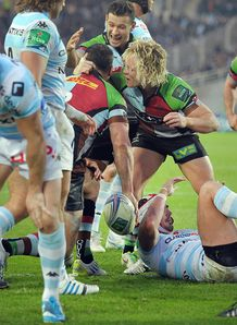 Racing Metro v Harlequins Nick Easter celeb
