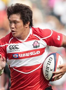 Takashi Kikutani Japan v Wales 2013 3050224 Japan back row on his way to Sarries