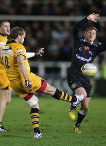 andy goode newcastle falcons london wasps clearing kick