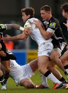 jack nowell for exeter chiefs v newcastle falcons