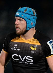 RUGBY UNION AMLIN CHALLENGE CUP POOL FOUR LONDON WASPS V BAYONNE ADAMS PARK JAMES HASKELL