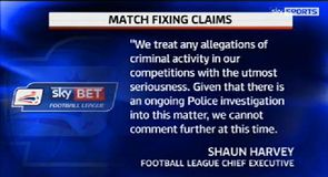 Police investigate new match fixing claims