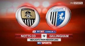 Notts County 3-1 Gillingham