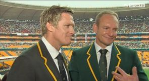 Springboks pay tribute to Mandela