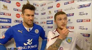 Burnley stay top after draw with Leicester