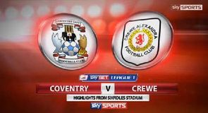Coventry 2-2 Crewe