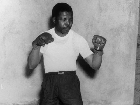 January 1950: Mandela was a boxer.