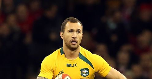 Fly-ing high: Aussie star Cooper left Stuart in awe with his display against Wales