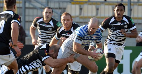 Charlie Hodgson of Saracens in action during the Heineken Cup pool three match between Zebre and Saracens