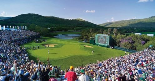 The 18th at Gary Player CC on day 4 of a Nedbank championship