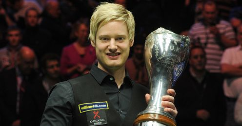 Robertson: has now won all three of snooker's 'majors'