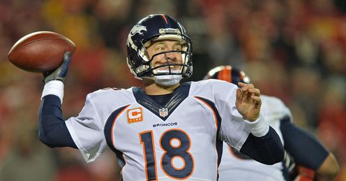 High five: Peyton Manning ripped Kansas City apart through the air