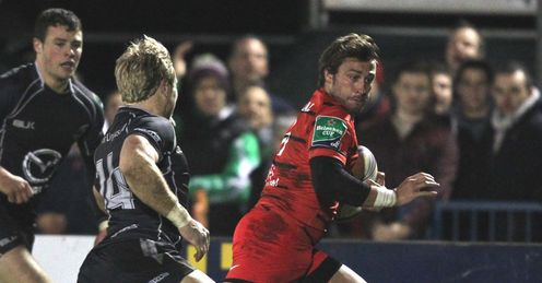 Toulouse s wing Maxime Medard R evades Connacht