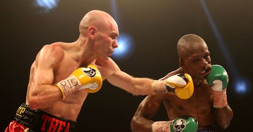 Hall: battled his way to a world title