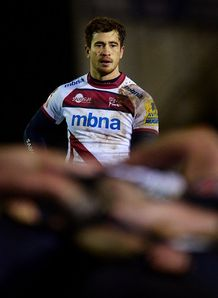 Danny Cipriani watching a scrum