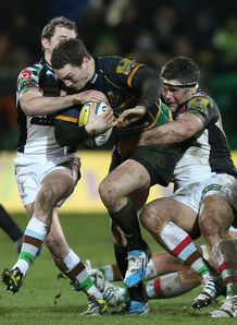 George North taking it up for Northampton