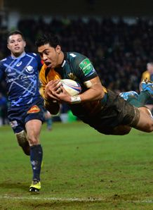 George Pisi try Northampton V Castres
