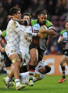 LV= Cup: Harlequins hold off Leicester Tigers in storm-shortened game