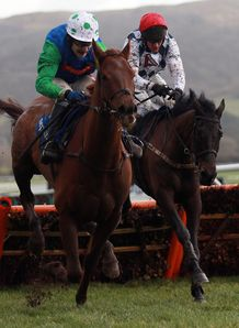 Red Sherlock retained his unbeaten record at Cheltenham